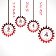 New year greeting ,2014 with gear — Stock Vector