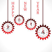 新年のご挨拶、ギアと 2014 — ストックベクタ