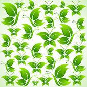 зеленые бабочки — Cтоковый вектор
