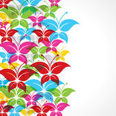Colorful butterfly background — Vector de stock