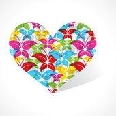 Hacer un corazón de mariposa — Vector de stock