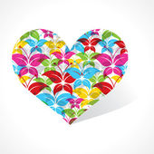 蝴蝶让一颗心 — 图库矢量图片