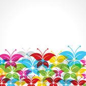 Sfondo colorato farfalla — Vettoriale Stock