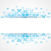Abstract blue butterfly design with copy-space — Stock Vector