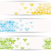 Abstract colorful butterfly design for website banner — ストックベクタ