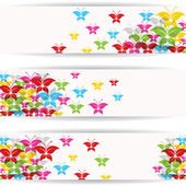 Abstract colorful butterfly design for website banner — Stok Vektör
