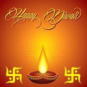 Fundo de saudação de Diwali — Vetor de Stock