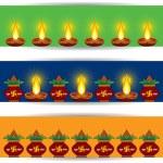 Diwali greeting banner for website — Stock Vector