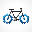Stock Vector: Cycle with cog wheel