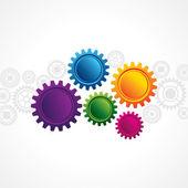 Colorful gear — Vector de stock