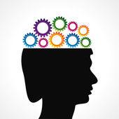 Thinking of mechanics concept — Stock Vector