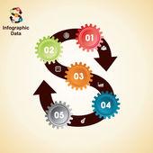 Kreatywnych narzędzi informacji grafika opcje transparent — Wektor stockowy