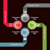 Creative gears Info-graphics options banner — Stock Vector