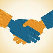 商人握手背景 — 图库矢量图片
