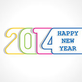 Creative happy new year 2014 design — Stock Vector