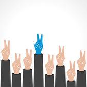 Creative victory hand — Stock Vector