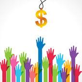 Everyone wants money — Stock Vector