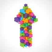 Conception créative de flèche du message coloré — Vecteur