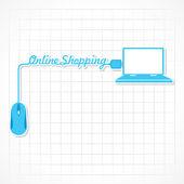 Online alışveriş — Stok Vektör
