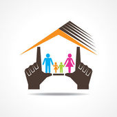 Home with family — Stock Vector