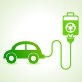 Electric car — Stock Vector