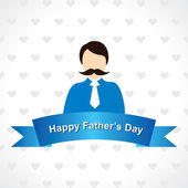 Happy Fathers Day greeting card design — Stock Vector