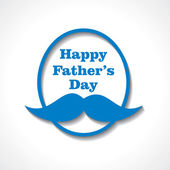Happy Fathers Day greeting card design — Vettoriale Stock