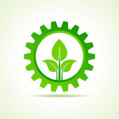 Green energy part icon — Stock Vector