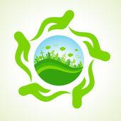 Eco-city concept — Stock Vector