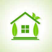 Eco home — Stock Vector