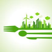Eco city-escape — Stock Vector