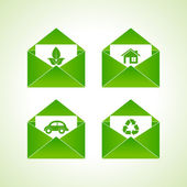 Ecology symbols — Stock Vector