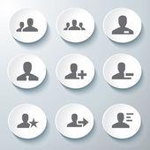 3d ikoner 3d ikoner anger ikonen glas ikoner vektor ikonen uppsättning ikoner ikon insamling — Stockvektor