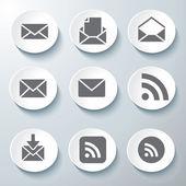 3d iconos 3d iconos conjunto icono vidrio iconos vector icon set iconos colección icon — Vector de stock