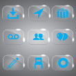 3d icons 3d icons set icon glass icons vector icon set icons icon collection — ベクター素材ストック