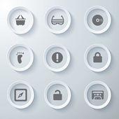 3d icons 3d icons set symbol glas symbole vektor icon set-icons icon-sammlung — Stockvektor
