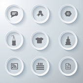 3d icons 3d icons set icon glass icons vector icon set icons icon collection — Stock Vector
