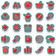 Sticker icon sticker label sticker vector sticker tag stickers set icon set icons icon collection — Stok Vektör