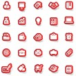 Sticker icon sticker label sticker vector sticker tag stickers set icon set icons icon collection — Stock Vector