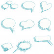 Speech bubbles vector speech bubble speech bubble icon speech bubble 3d speech bubbles set — Grafika wektorowa