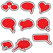 Speech bubbles vector speech bubble speech bubble icon speech bubble 3d speech bubbles set — Cтоковый вектор