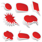 Dymki wektor mowy bańka mowy bańka mowy bańka 3d mowy pęcherzyki zestaw ikon — Wektor stockowy