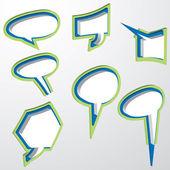 吹き出しベクトル音声バブル スピーチ泡アイコン音声バブル 3 d 音声泡セット — ストックベクタ