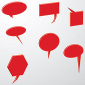 Vector de burbujas de discurso discurso burbuja discurso burbuja discurso burbuja 3d discurso burbujas conjunto de iconos — Vector de stock