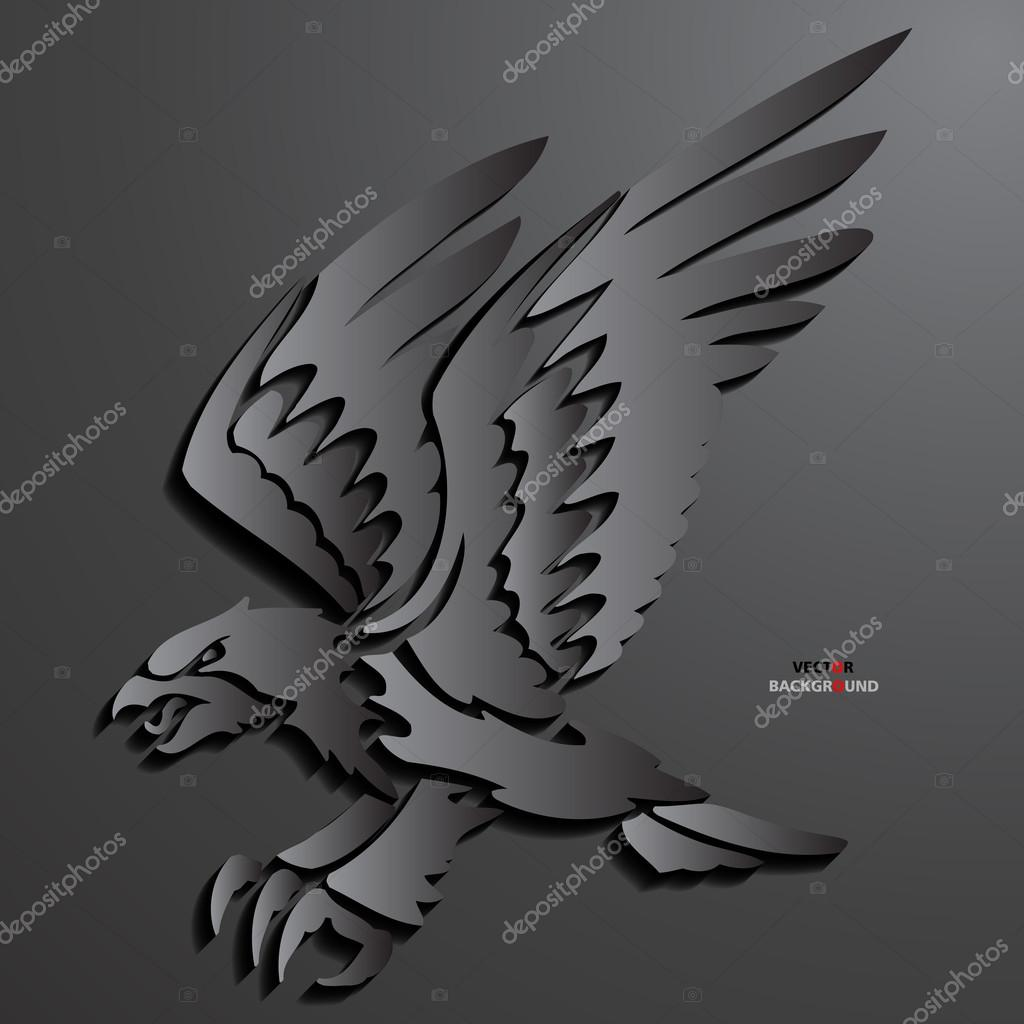 Eagle Background Abstract 3D Design Vector Illustrations