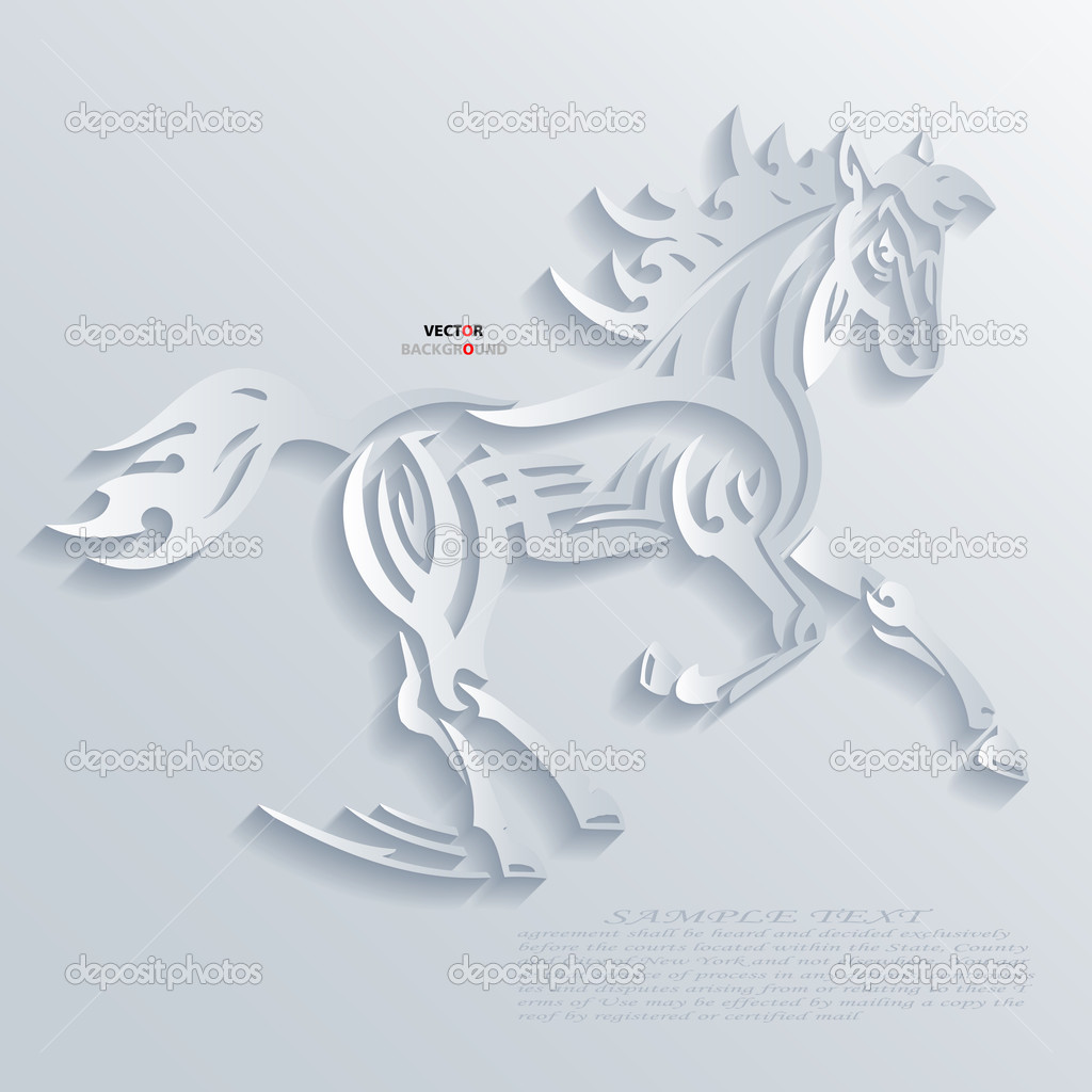 Horses Abstract 3D Design Background Vector illustrations ...