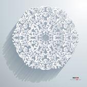 Grenzt element abstrakt 3d-design vektorzeichnungen weißen hintergrund — Stockvektor