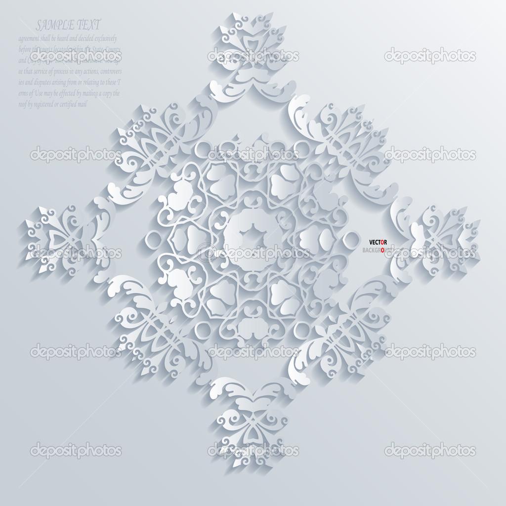 元素抽象几何图解现代向量白色边框元素