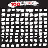 Белый гранж Векторный набор 100 Grunge текстуру гранж-фон — Cтоковый вектор