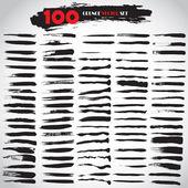 Black Grunge Vector Set 100 Grunge Texture Grunge Background — Stock Vector